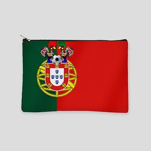 Portugal Football Flag Makeup Bag