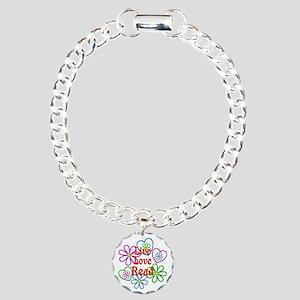 Live Love Read Charm Bracelet, One Charm