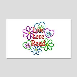 Live Love Read Car Magnet 20 x 12