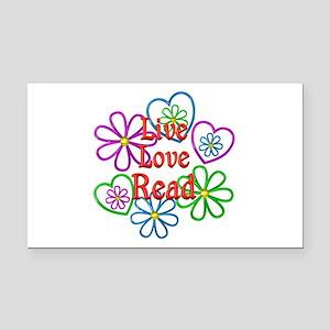 Live Love Read Rectangle Car Magnet
