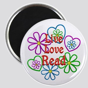 Live Love Read Magnet