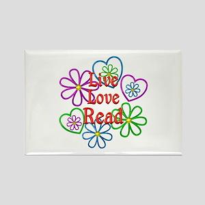 Live Love Read Rectangle Magnet