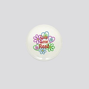 Live Love Read Mini Button