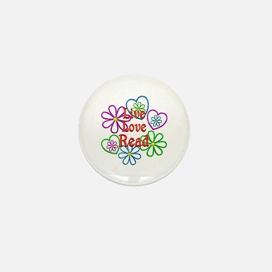 Live Love Read Mini Button
