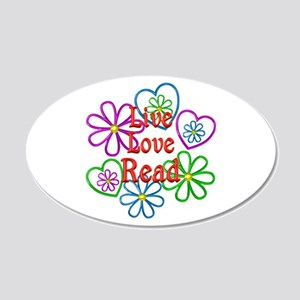 Live Love Read 20x12 Oval Wall Decal
