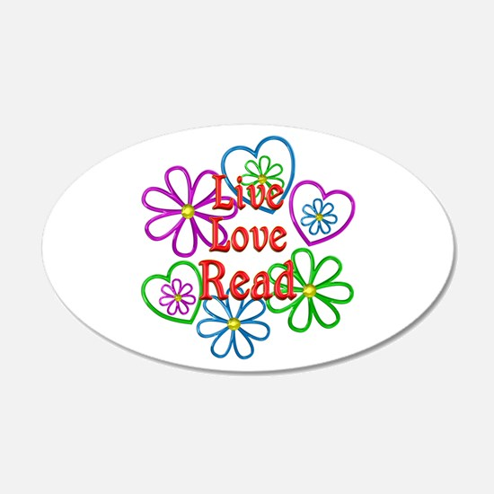 Live Love Read Wall Decal