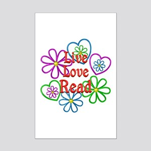 Live Love Read Mini Poster Print