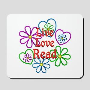 Live Love Read Mousepad