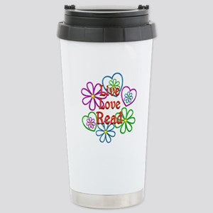 Live Love Read Stainless Steel Travel Mug