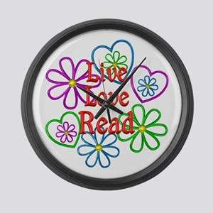 Live Love Read Large Wall Clock
