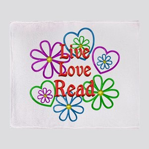 Live Love Read Throw Blanket