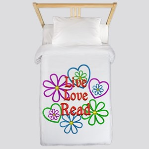 Live Love Read Twin Duvet Cover