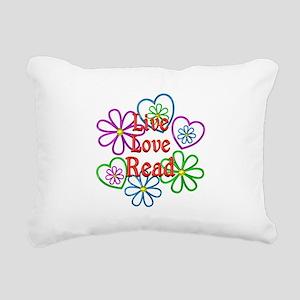 Live Love Read Rectangular Canvas Pillow