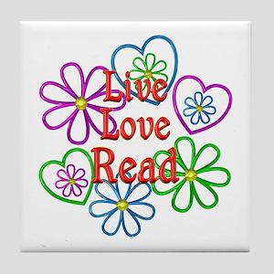 Live Love Read Tile Coaster