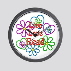 Live Love Read Wall Clock