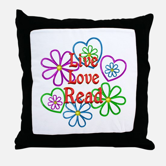 Live Love Read Throw Pillow