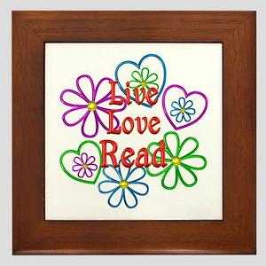 Live Love Read Framed Tile