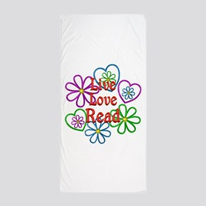 Live Love Read Beach Towel