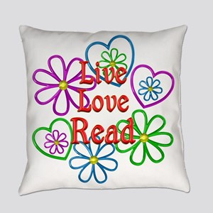Live Love Read Everyday Pillow