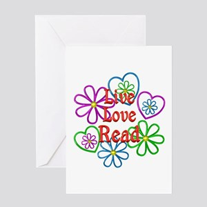 Live Love Read Greeting Card
