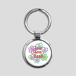 Live Love Read Round Keychain