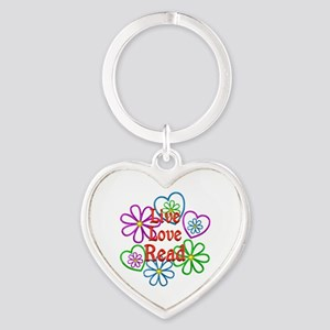 Live Love Read Heart Keychain