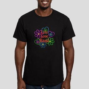 Live Love Read Men's Fitted T-Shirt (dark)