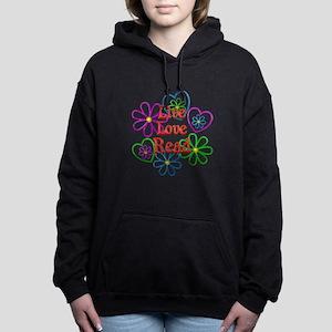 Live Love Read Women's Hooded Sweatshirt