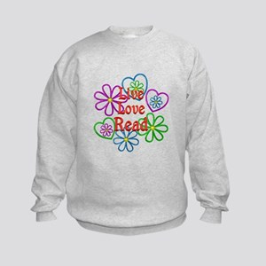Live Love Read Kids Sweatshirt