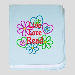 Live Love Read baby blanket