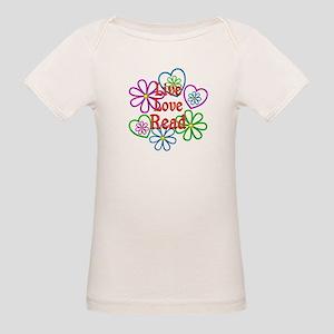 Live Love Read Organic Baby T-Shirt
