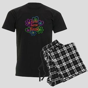 Live Love Read Men's Dark Pajamas