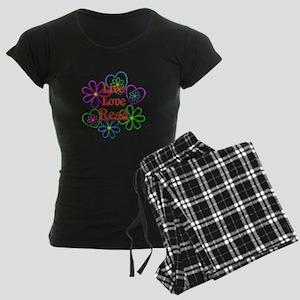 Live Love Read Women's Dark Pajamas