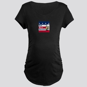 God Bless America Maternity Dark T-Shirt