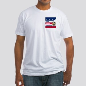 God Bless America Fitted T-Shirt