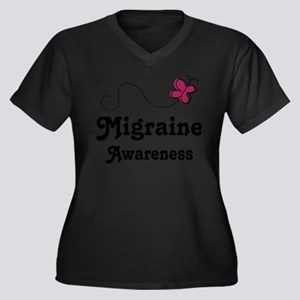 Migraine Awareness Butterfly Plus Size T-Shirt
