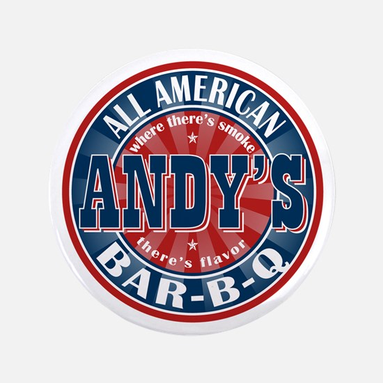 "Andy's All American BBQ 3.5"" Button"