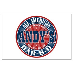 Andy's All American BBQ Posters