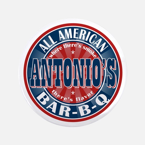 "Antonio's All American BBQ 3.5"" Button"