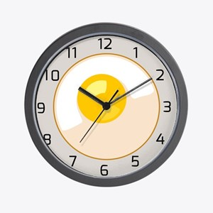 Egg on Plate Clock Wall Clock