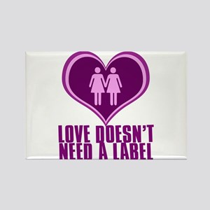 Proud Lesbian in Love Rectangle Magnet