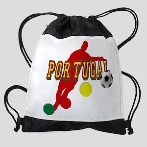 Portugal Soccer Player Drawstring Bag