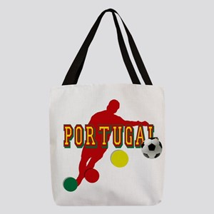 Portugal Soccer Player Polyester Tote Bag