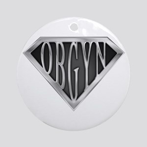 SuperOBGYN(metal) Ornament (Round)