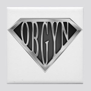SuperOBGYN(metal) Tile Coaster
