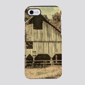 vintage rustic country barn iPhone 8/7 Tough Case