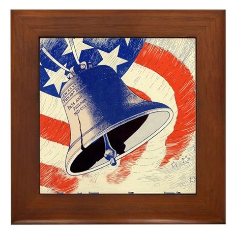 Let Freedom Ring Framed Tile
