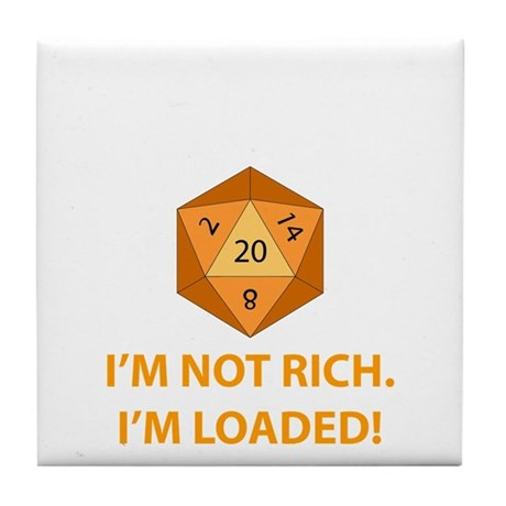 Loaded D20 Tile Coaster