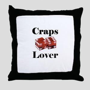 Craps Lover Throw Pillow