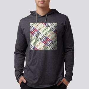 retro cassette tape funky patt Long Sleeve T-Shirt
